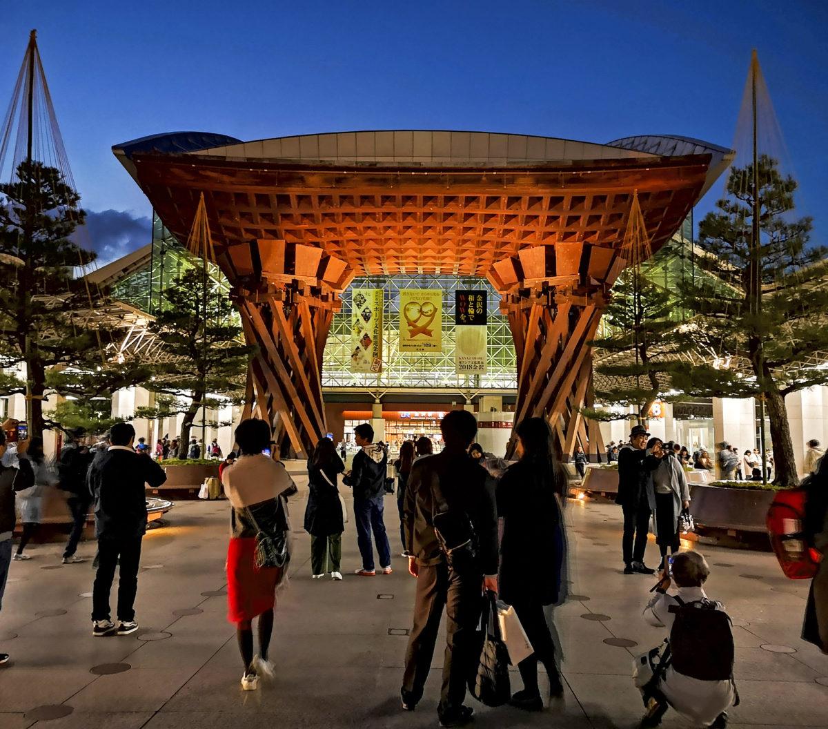 Kanazawan kaupunki sijaitsee rannikolla.