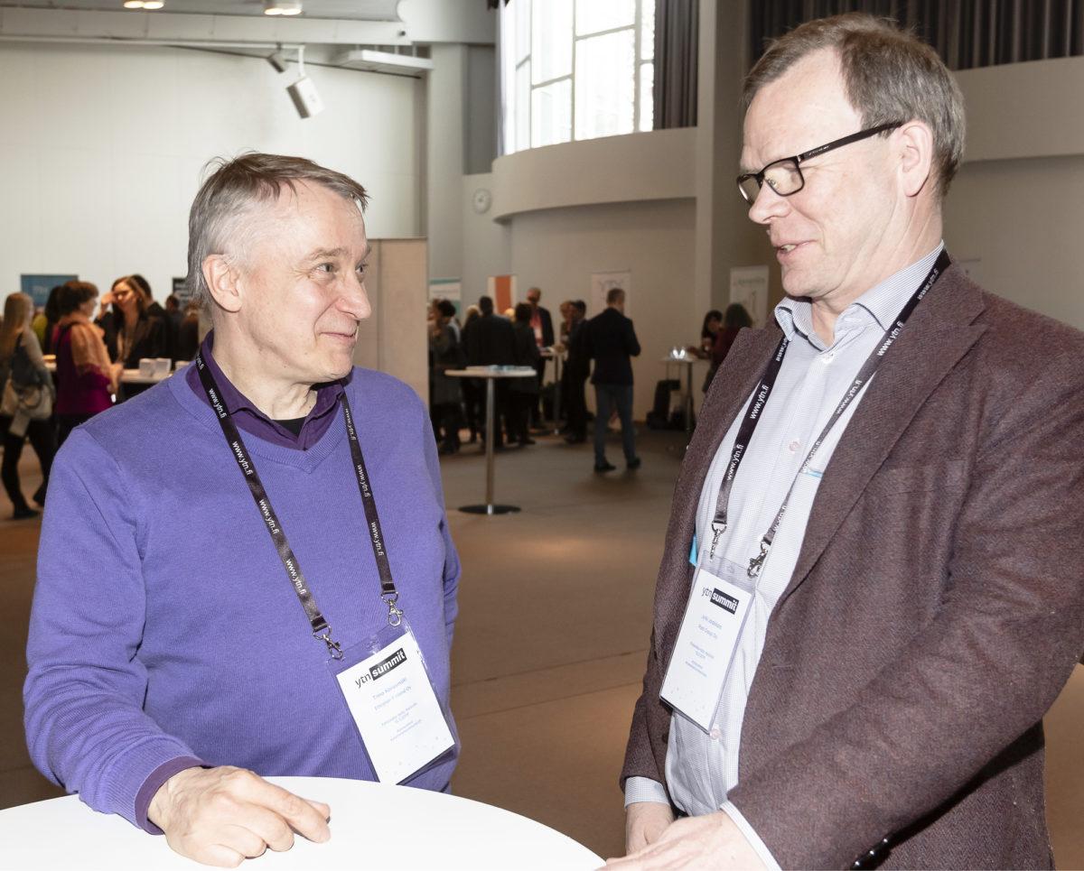 Timo Karasmäki (vas.) ja Jyrki Jaakkola  ovat toimineet sekä yritysyhdistyksissä  että omien alojensa taustaryhmissä.