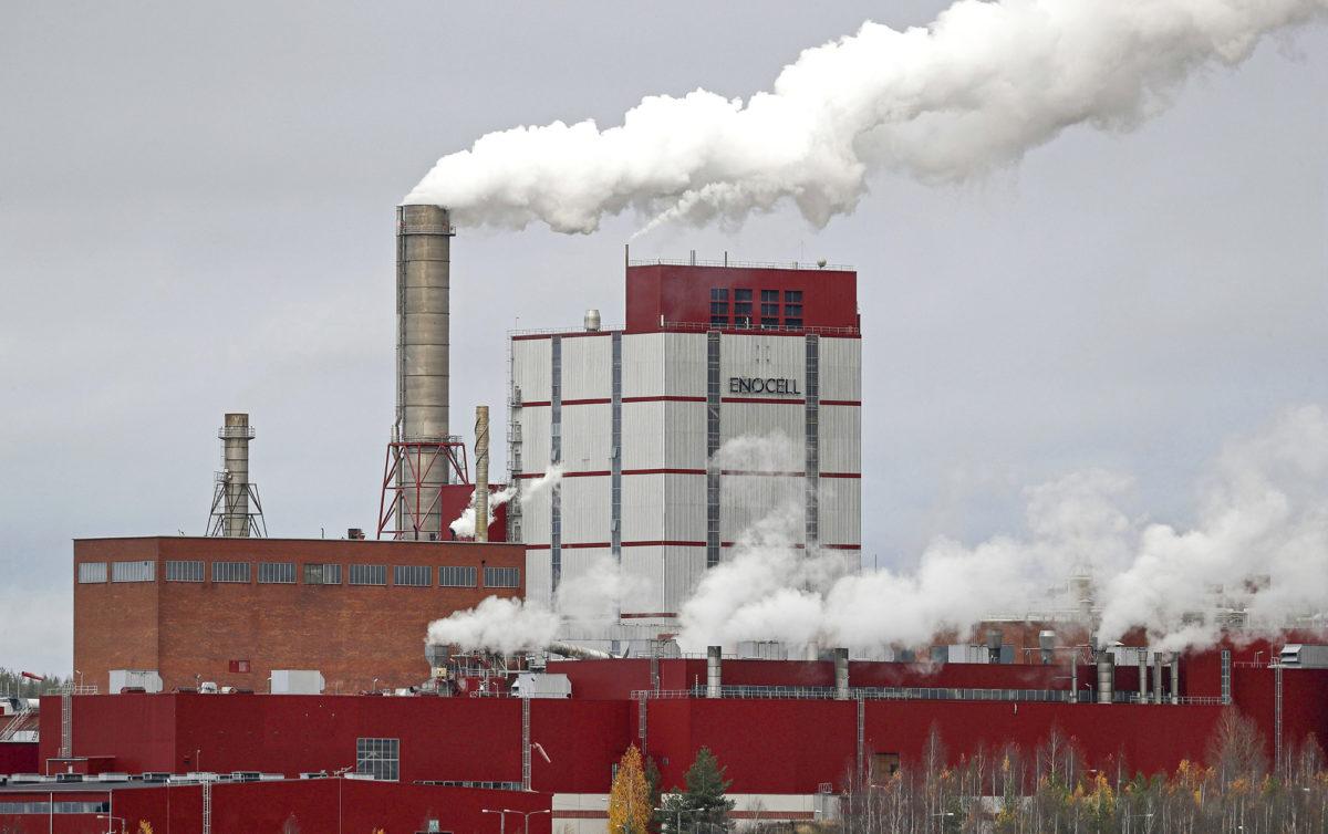Metsäteollisuudessa tehtailla jatkuu hiljaisuus lakkojen ja työsulkujen takia. Kuvassa on Stora Enson Enocellin sellutehdas Uimaharjussa.