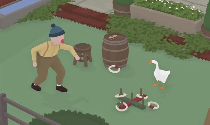 Untitled Goose Gamessa hanhi aiheuttaa kyläläisille monenlaista pientä harmia.