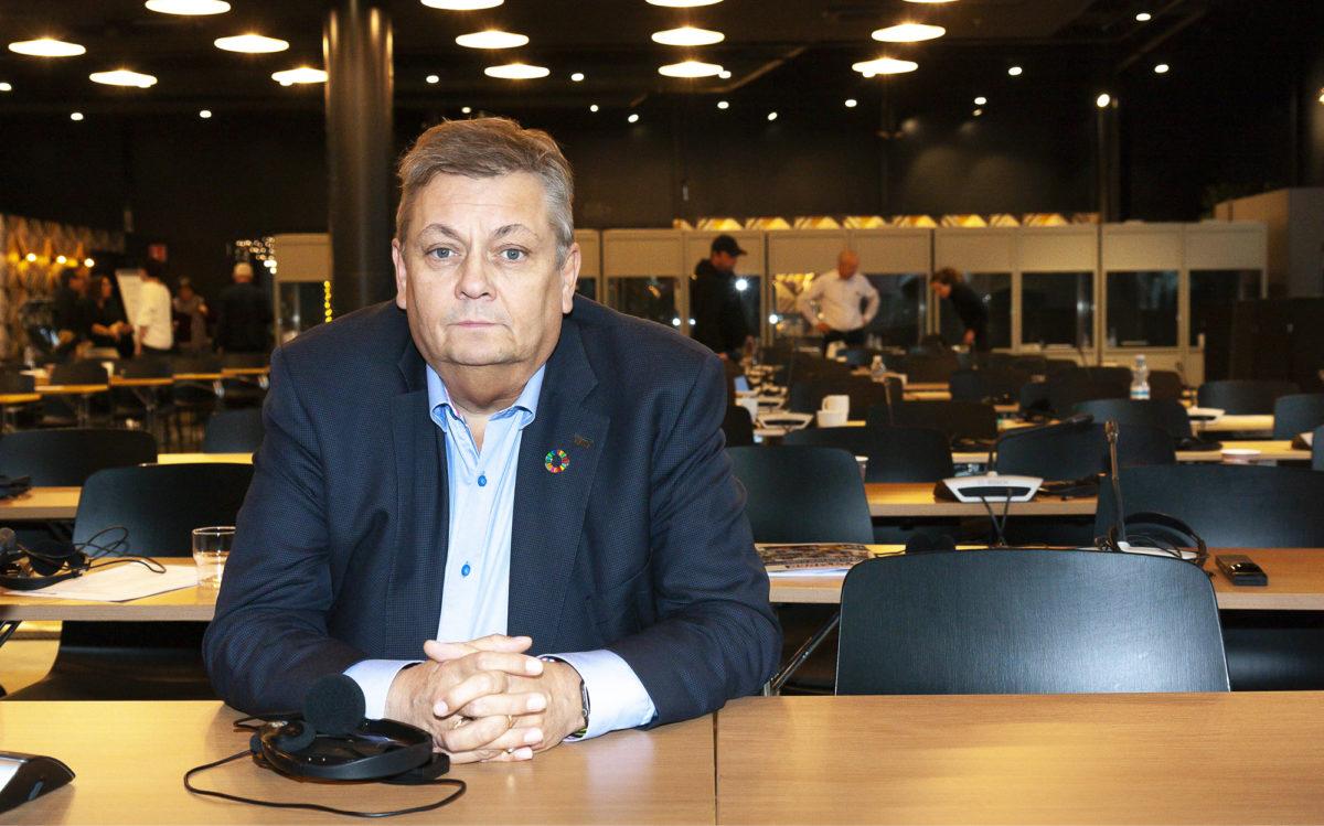 Trond Markussen osallistui teollisuustyöntekijöiden liiton  IndustriAll Europen kokoukseen  Vantaalla viime marraskuussa.
