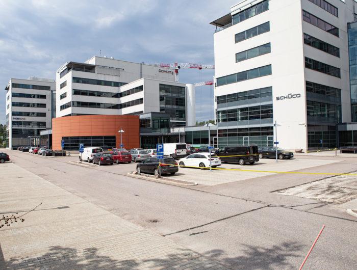 Optomed Softwaren toimisto sijaitsee Espoon Keilaniemessä.