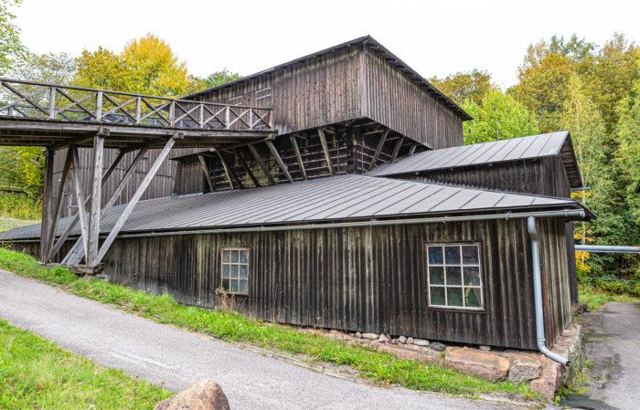 Rakennus on jäljennös vuonna 1823 valmistuneesta Högforsin masuunista.