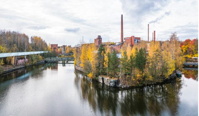 Tehdassaarella on Nokian vanhimmat tehdasrakennukset.