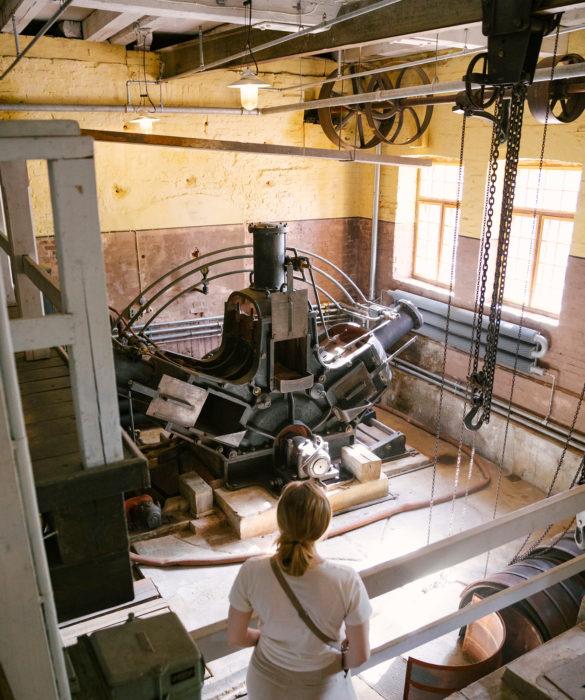 UPM:n ylläpitämä Verlan tehdasmuseo toimii autenttisessa ympäristössä, joka on valittu Unescon maailmanperintökohteeksi. Kuvat: Joonas Linkola /UPM